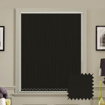 Made to Measure Vertical Blinds in PVC Blackout fabric in Black
